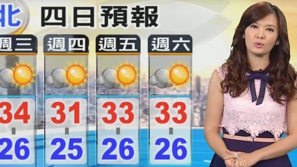 【2017/06/07】天氣炎熱到周日 午後山區注意雷陣雨