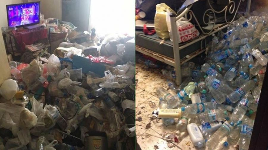 女房客造垃圾山及腰 房東「蛙式游垃圾海」氣炸