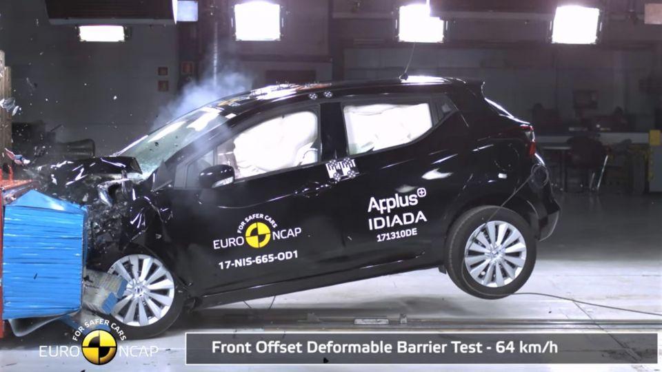 【影片】別再說小車不安全 Nissan March拿下E-NCAP撞擊五顆星評價