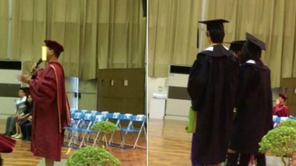 台師大博士畢業生代表 「穿夾腳拖」上台致詞