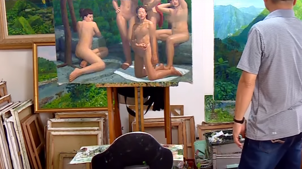 「人體藝術畫」臉書要求刪除 畫家:標準不一