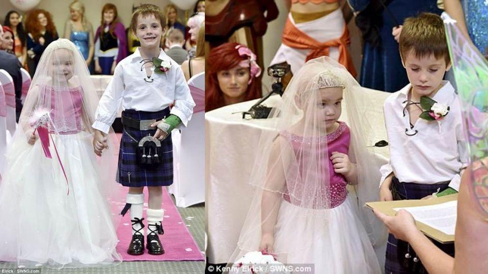 5歲癌末女童「最後夢想」披白紗完婚 母淚:她好幸福