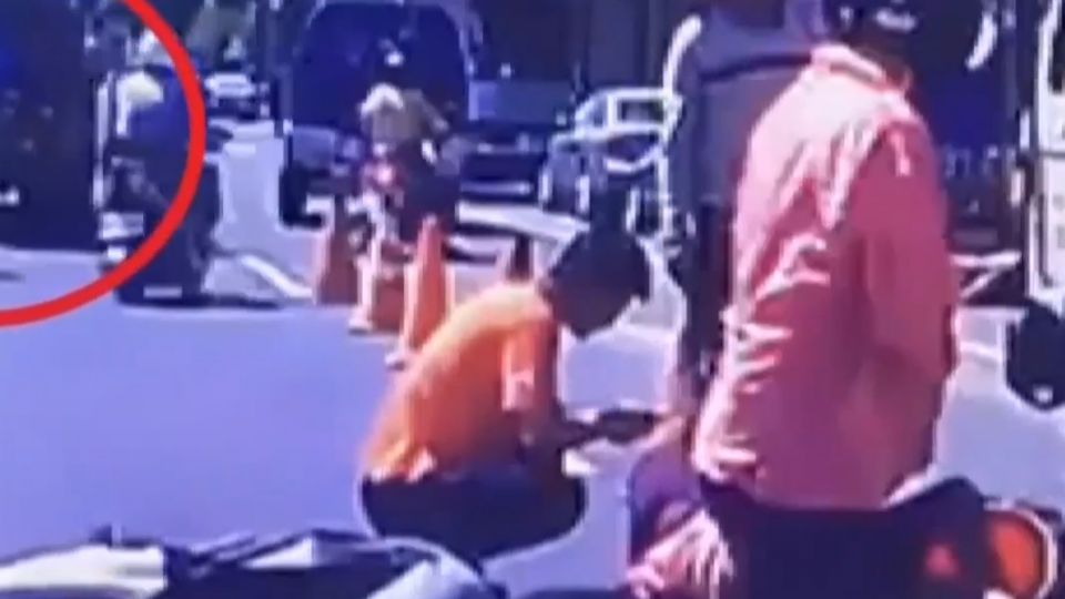 女騎士遭混凝土車撞倒 後車駕駛熱心救護