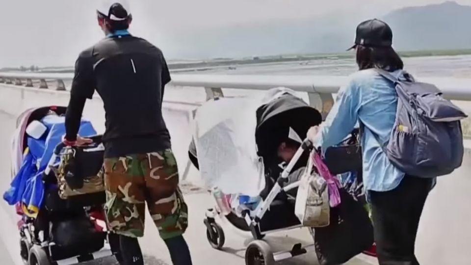 大手牽小手! 夫妻倆帶2女兒「徒步環島」112天