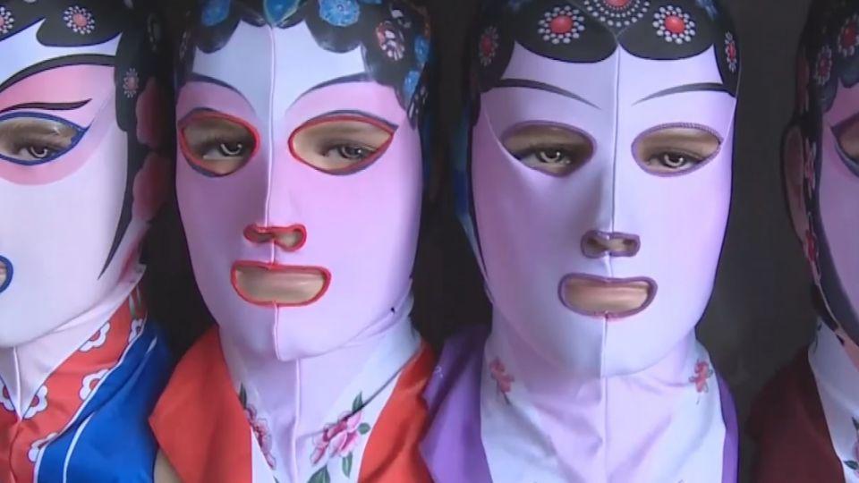 青島海灘「臉基尼」 一秒防曬紅爆時尚界