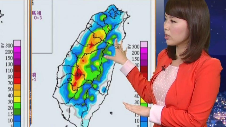 【2017/07/07】對流雲系往北擴散 北台灣下班時留意大雨