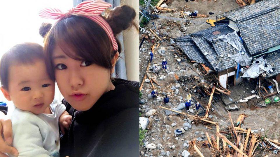 慘!九州暴雨釀21死 26歲孕婦緊抱一歲兒遭土石活埋
