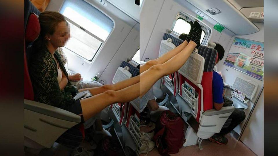 噁!金髮妹搭火車「美腿抬跨椅背」 網卻歪樓這樣說…