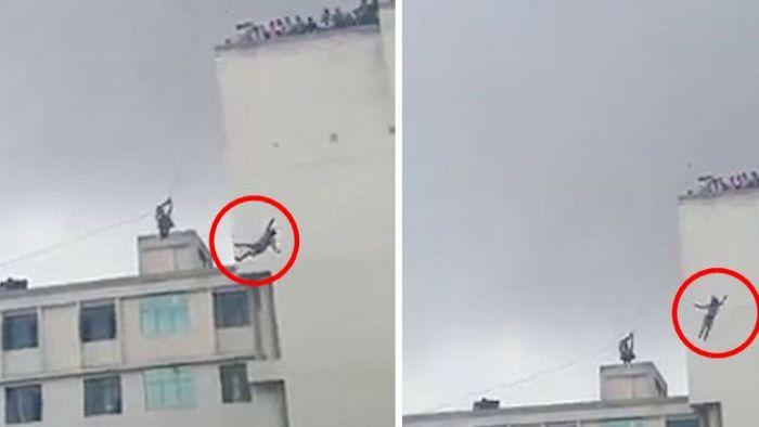 【影片】「溜索」專家目睹女兒6樓墜下亡 死因恐「非意外」