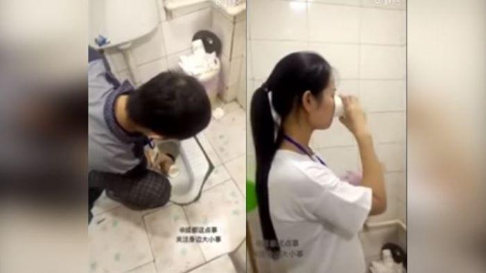【影片】沒達到業績被逼喝「馬桶水」 他眼一閉吞下肚