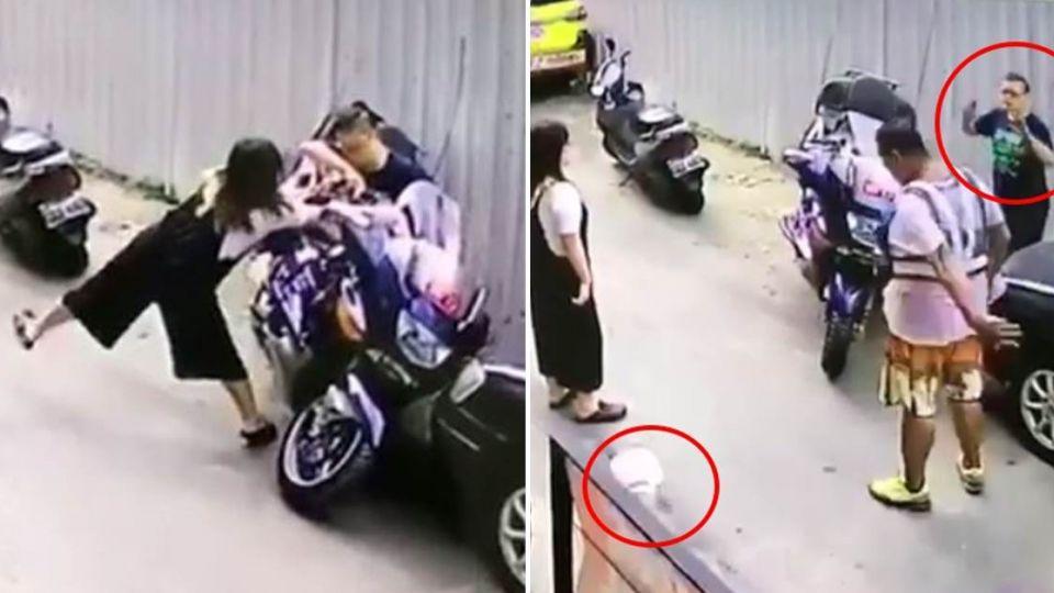 【影片】偷移重機還弄倒!搬救兵竟找到「車主」…下場慘賠