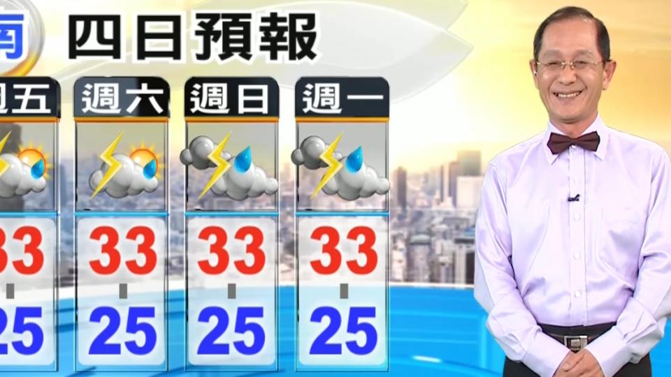 【2017/08/04】今午後 大台北易有雷雨、南側東側較劇烈