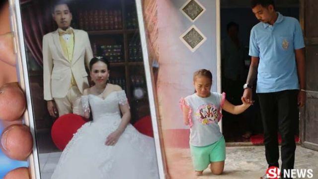 戀愛3年 見面才發現女友半殘 他努力存錢將她娶進門