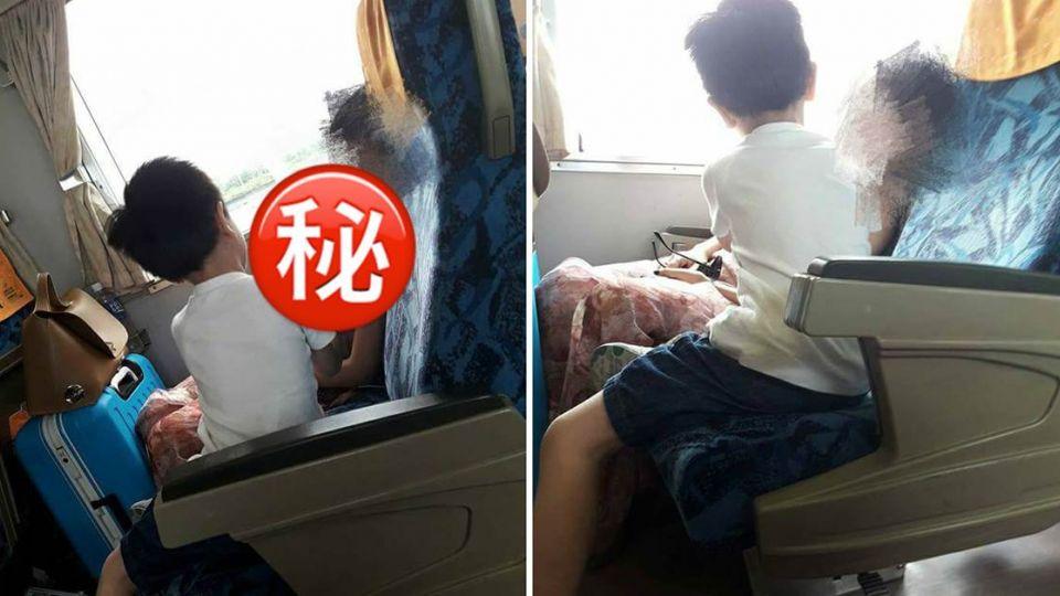 火車遇低胸大姐姐熟睡! 男童「這樣做」網友暴動了