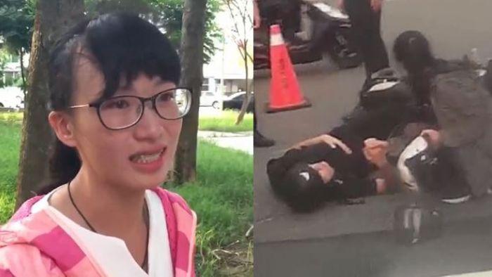 熱心助人遭酸!女孩眼眶泛淚「還是會幫」 消防員看不下去了