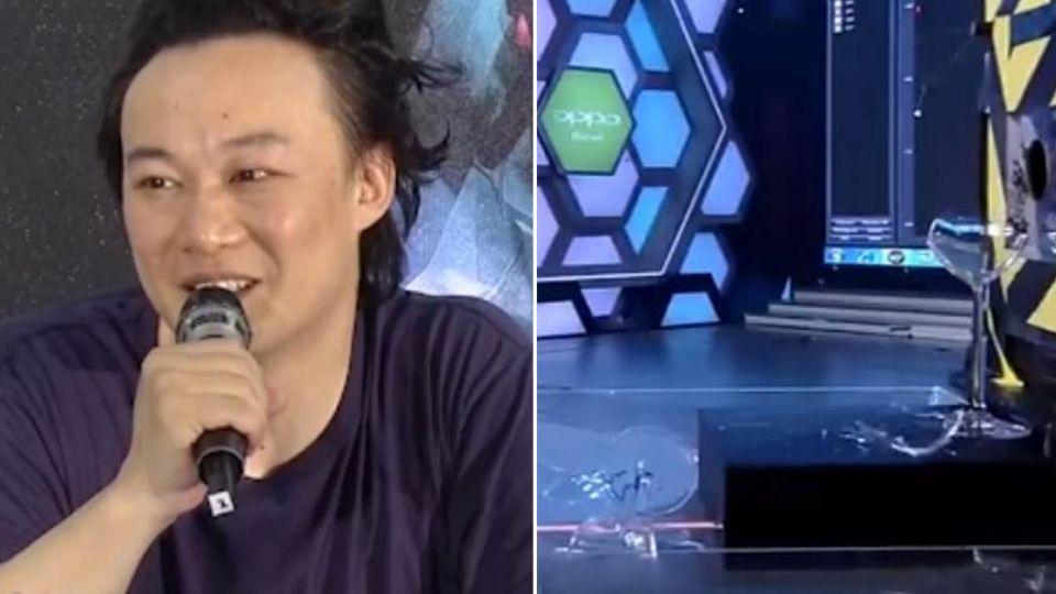 【影片】神!用歌聲震碎玻璃?陳奕迅只唱「3秒」杯子當場爆裂