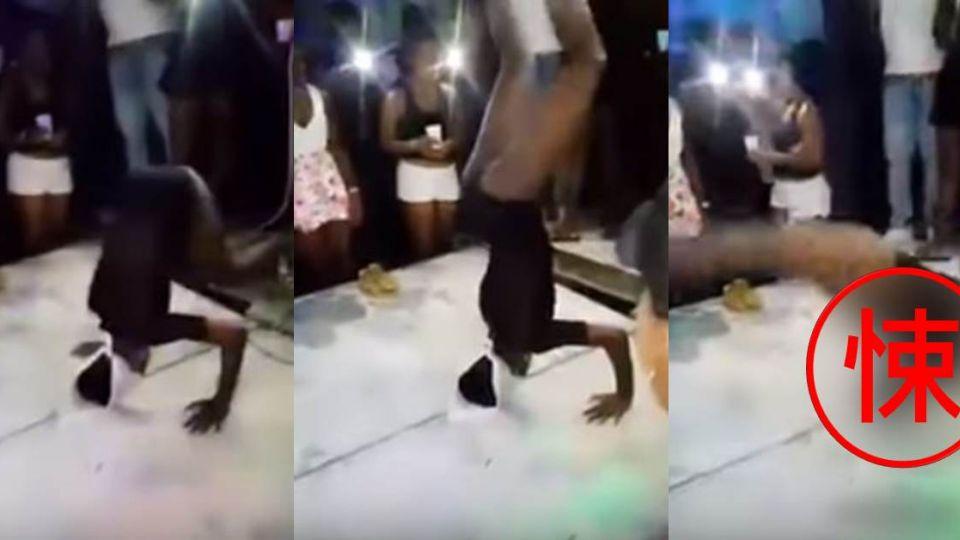 【影片】女舞者表演倒立絕技 一個失誤…「脖子扭曲」躺地觀眾嚇瘋