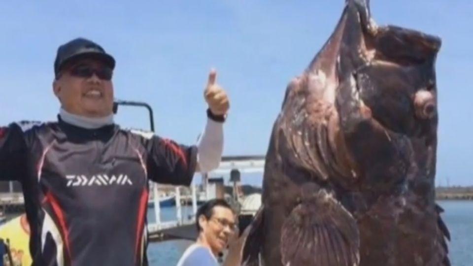 161斤罕見「七帶石斑」上鉤 釣客興奮樂翻