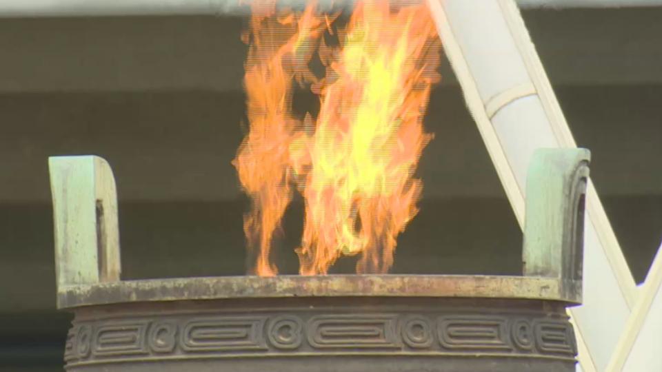 世大運暖身 聖火傳遞點燃「毛公鼎」