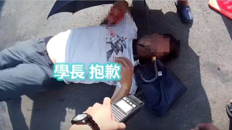 【影片】「學長對不起…」毒嫌逃逸高速撞飛警 畫面曝光2.8萬人暴怒