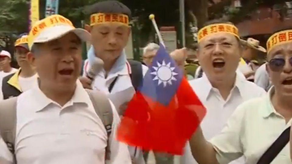 世大運開幕 反年改團體「為中華隊加油」