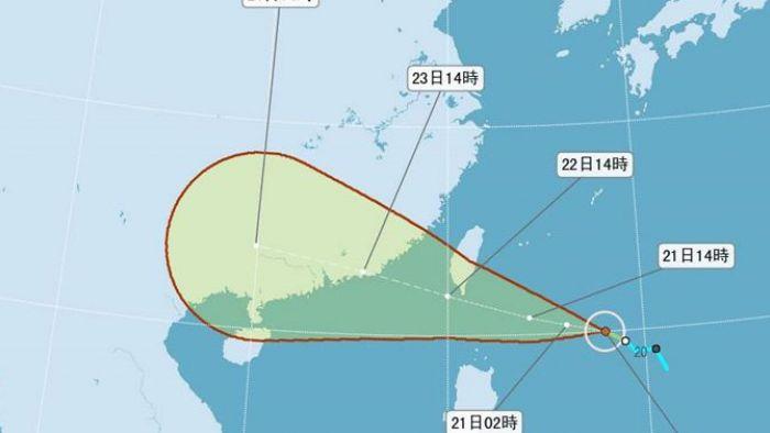 暴風圈將籠罩半個台灣!輕颱「天鴿」最快明午發陸警