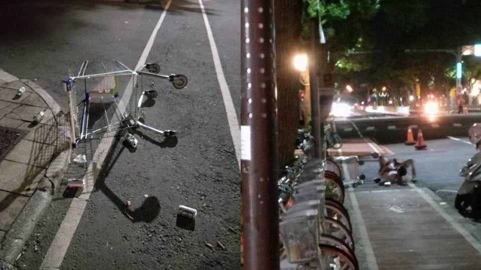 傻眼!世大運選手深夜嬉鬧 喝醉「砸車」躺路邊