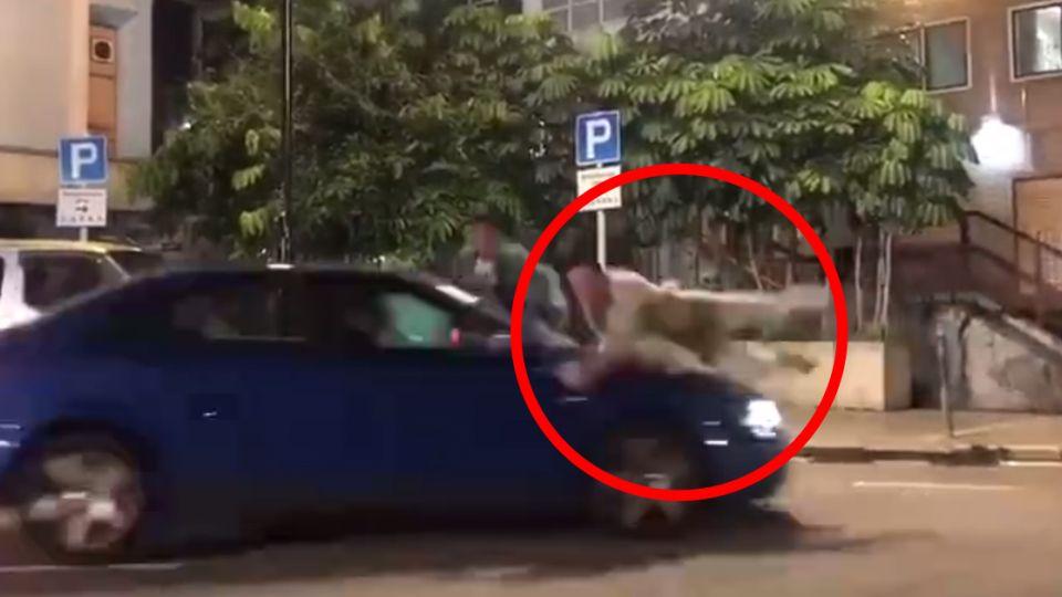 【影片】驚悚直擊「肉擋車」! 男星遭「高速衝撞」360度翻轉頭墜地