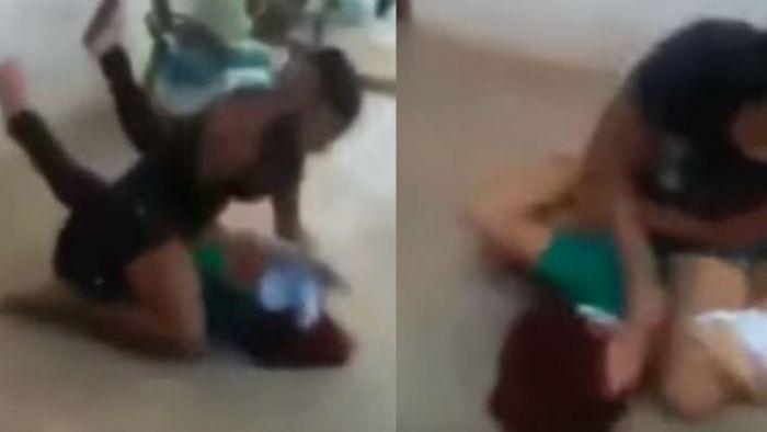 【影片】17歲少女未婚懷孕 慌張找母求救...竟被「操拳狂毆」30秒