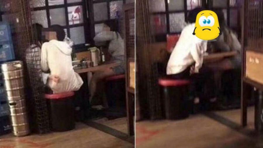 【更新】影片曝光!女友離開…他秒轉頭「熱吻閨蜜」 客人看傻眼