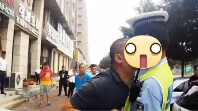 大叔被開單竟「鼻咚」求情 嫩警委屈:我來不及閃…