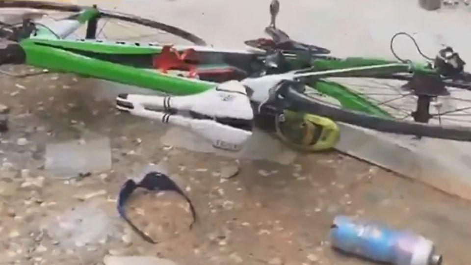 九曲洞落石砸傷人 日籍單車騎士頭流血昏迷