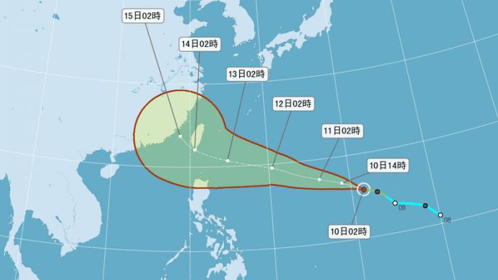 泰利持續增強!氣象局預測:東半部登陸,北轉影響大