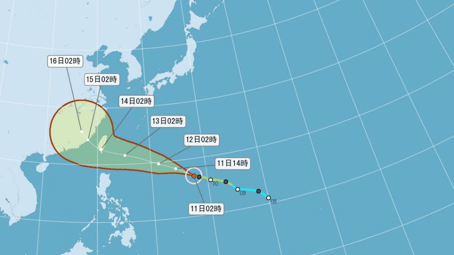 躲不掉!泰利「變胖又加速」恐轉強颱 海陸警周二齊發