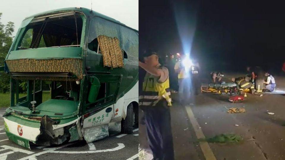 疑閃避不及!阿羅哈客運車禍釀6死 乘客:人從身邊飛過