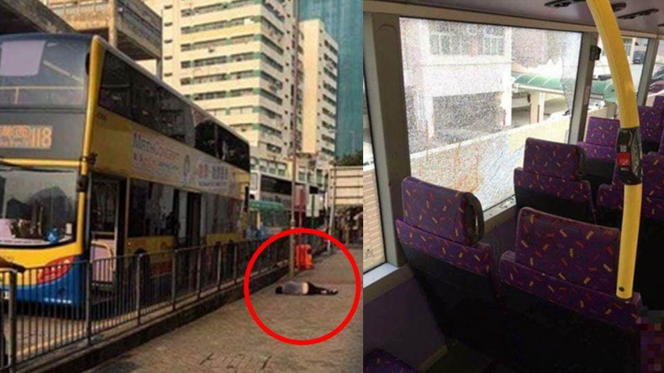 男狠砍女友「20刀」…血染巴士後破窗跳車 民怒:別救他!