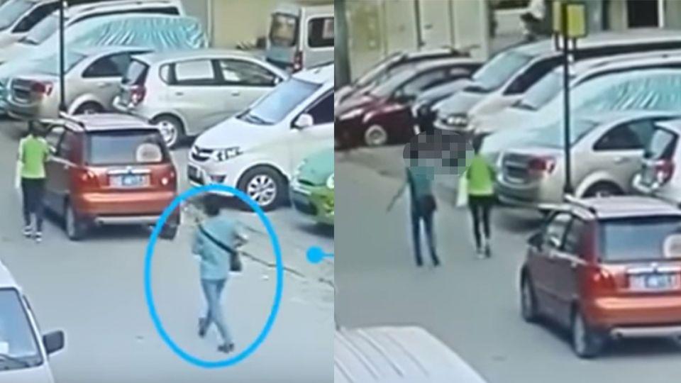 【影片】悚!幼教女老師遭男子尾隨 下一秒…當街遭「釘槍爆頭」慘死