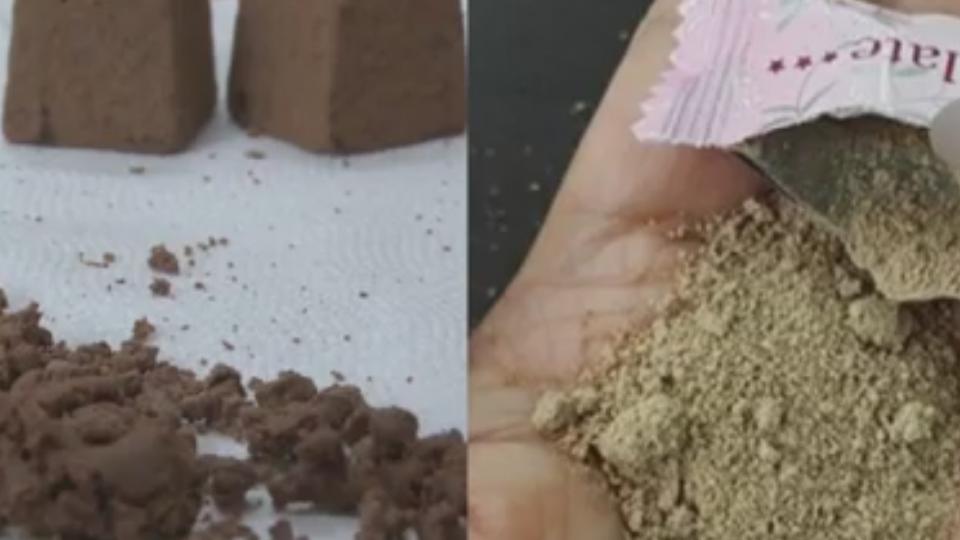 買巧克力拆開竟是「沙」網友傻眼:要吃土嗎