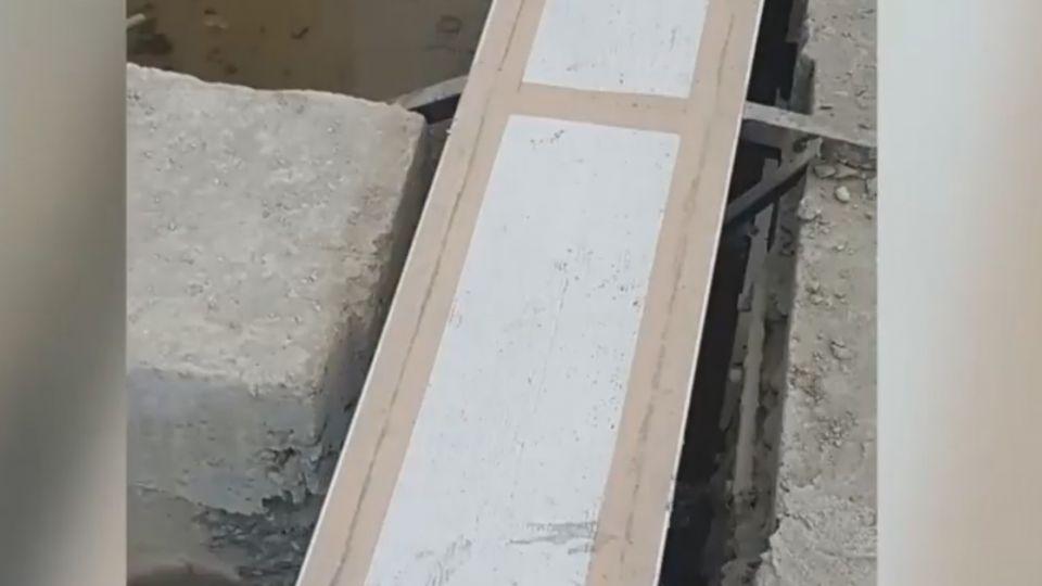 宜蘭監獄工程疑遭闖  拍照爆料施工毀地梁