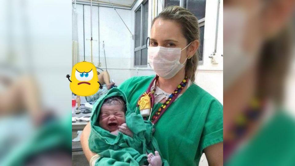 幫QQ!歡喜合照「新生兒」傳臉書 媽媽「雙腳開開」被看光