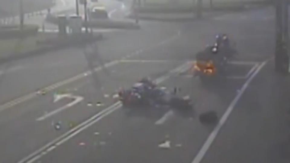 環島累了嗎?哈雷騎士連環追撞3車友