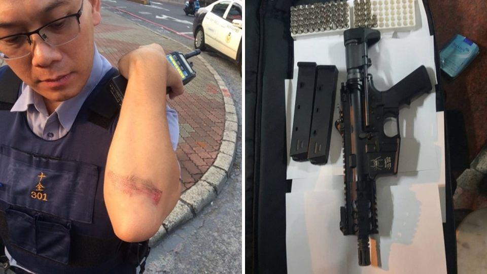 少年炫「衝鋒槍」…送豬隊友2顆子彈 騎車違規全被抓