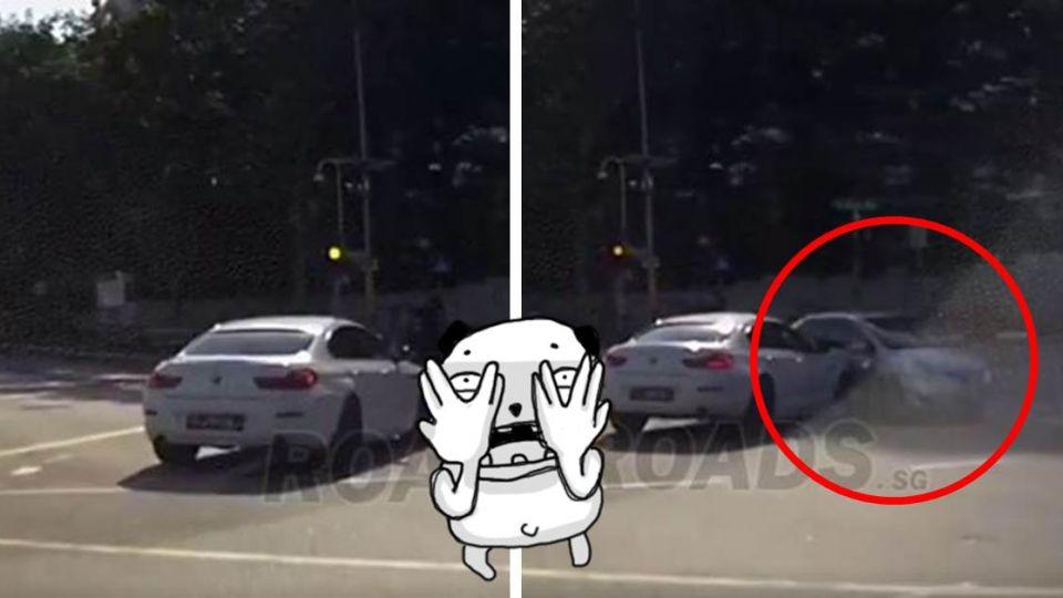 【影片】睜大你的眼睛!「幽靈車」憑空出現被撞凹 行車紀錄器畫面曝光