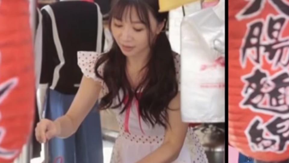 這個麵線攤不一樣 辣妹老闆娘踩高跟鞋擺攤