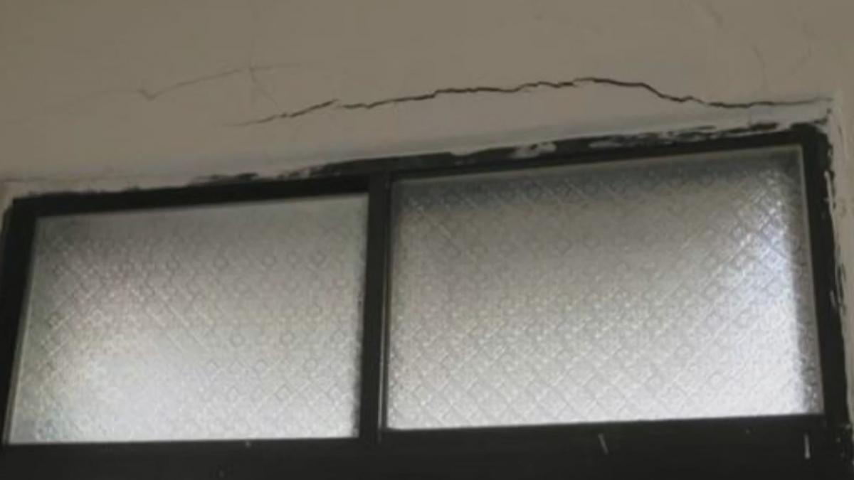 重物掉落牆壁裂? 專家推測:埋電路結構不連續
