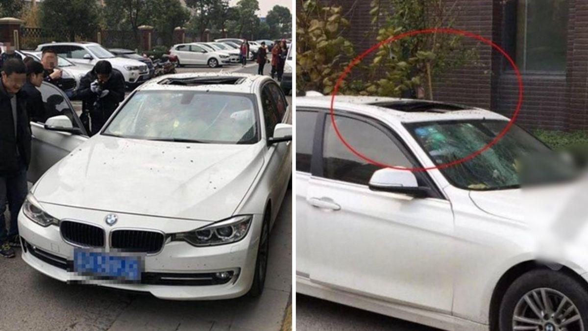 這麼巧?男墜樓跳進BMW天窗 車主上班「一開門」嚇歪