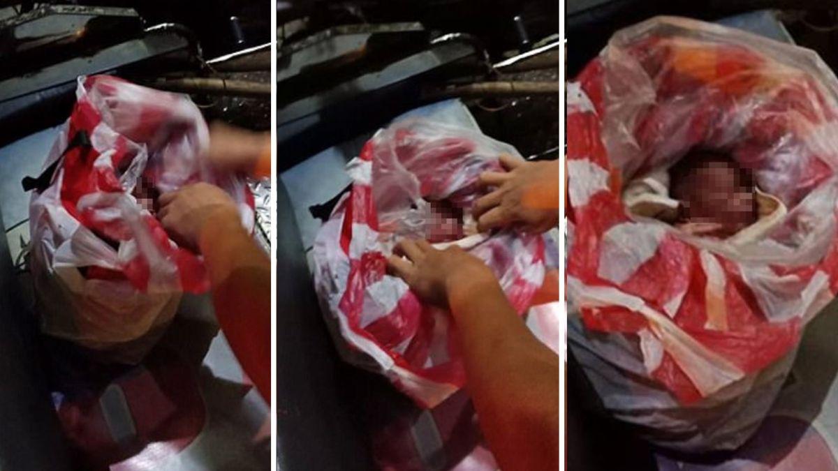 臍帶未剪丟路邊!新生兒塞塑膠袋 滿臉通紅險窒息