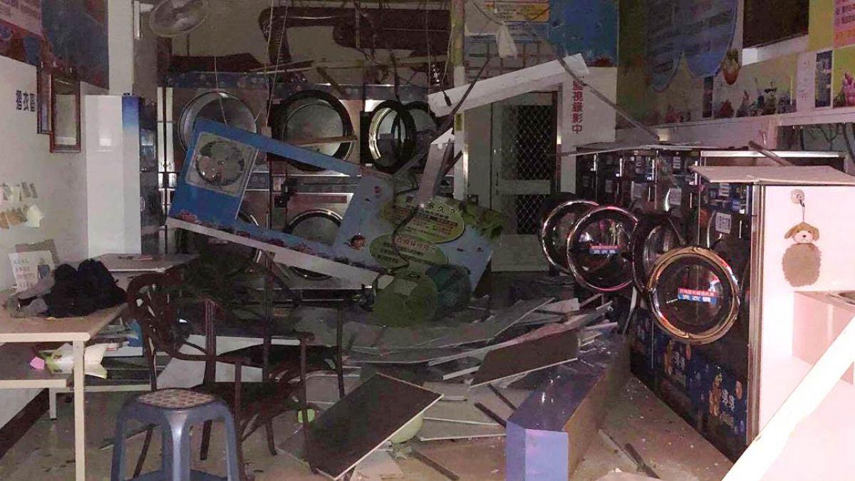 彰化洗衣店傳氣爆!機器炸毀、玻璃外噴 夫妻燙傷送醫