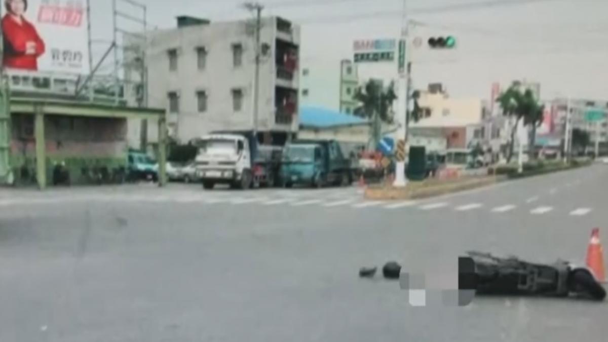 闖紅燈?男研究生急煞摔車 遭貨車輾斃
