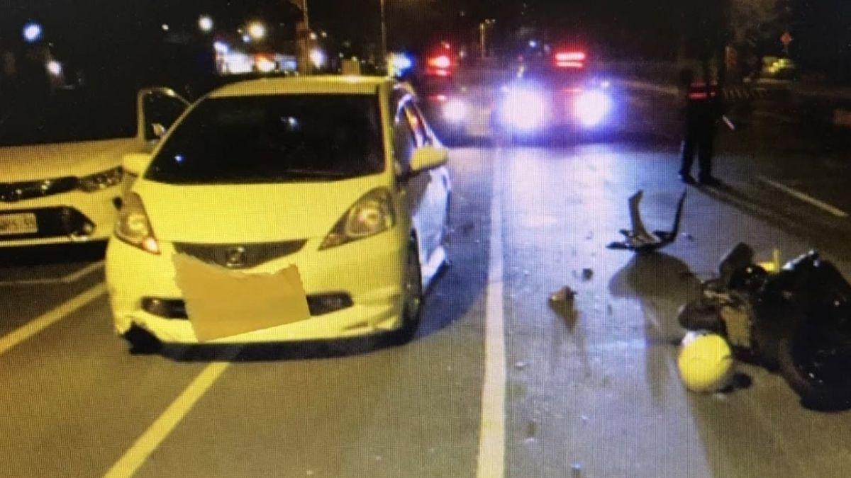 情侶騎車回家 違停擋車道 撞物流車1死1傷